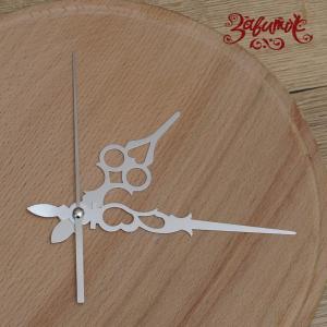Ажур, цвет серебро, часовой механизм со стрелками,  9 см /13 см /11 см - Заготовки для декупажа. Интернет-магазин Завиток
