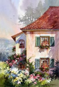 Акварельный рисунок Дом мечты, декупажная карта №35 - Заготовки для декупажа. Интернет-магазин Завиток