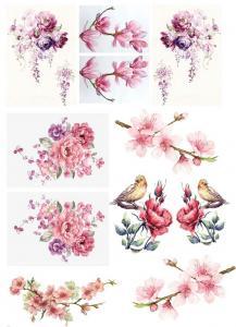 Цветочные мотивы, коллекция картинок для декупажа №46 - Заготовки для декупажа. Интернет-магазин Завиток