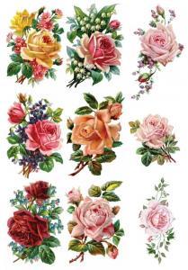 Винтажные розочки, коллекция картинок №81 - Заготовки для декупажа. Интернет-магазин Завиток