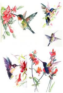 Акварельные птички №83, декупажная карта - Заготовки для декупажа. Интернет-магазин Завиток