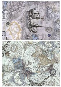 Коллаж Картография, декупажная карта №89 - Заготовки для декупажа. Интернет-магазин Завиток