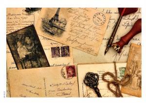 Фоновая коллекция №113 Старые письма, декупажная карта, формат А4, 80 г/м² - Заготовки для декупажа. Интернет-магазин Завиток
