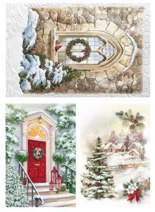 Открытки к Новому году, декупажная карта №136 - Заготовки для декупажа. Интернет-магазин Завиток