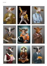Коровы тоже люди, карта для декупажа №149
