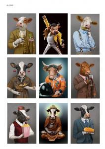 Коровы тоже люди, карта для декупажа №149 - Заготовки для декупажа. Интернет-магазин Завиток