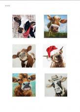 Коровки, художественные изображения, карта для декупажа №150