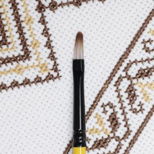 Кисть овальная KOLOS Yellow Stripe 1017 - Заготовки для декупажа. Интернет-магазин Завиток