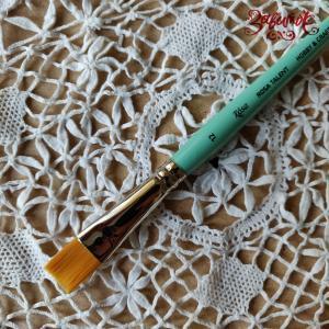 Кисть синтетика плоская №12 (1,3 см) ROSA TALENT - Заготовки для декупажа. Интернет-магазин Завиток