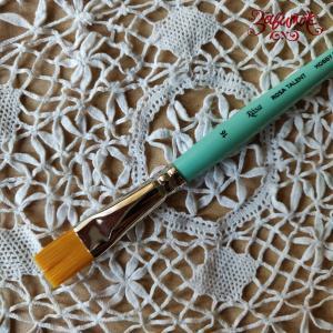 Кисть синтетика плоская №16 (1,4 см) ROSA TALENT - Заготовки для декупажа. Интернет-магазин Завиток