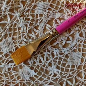 Кисть синтетика плоская №24 (2 см) ROSA TALENT - Заготовки для декупажа. Интернет-магазин Завиток