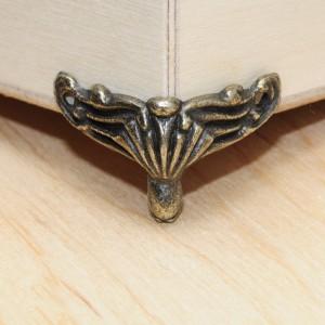 """Ножка """"Крылатая"""", металл, цвет бронза, 20х25 мм - Заготовки для декупажа. Интернет-магазин Завиток"""
