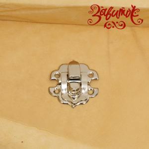 Замок фигурный  #107, серебро, 30х28 мм - Заготовки для декупажа. Интернет-магазин Завиток
