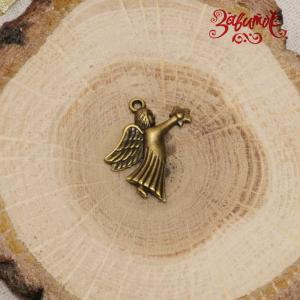 Ангел, декоративная подвеска, металл, 2,5х2 см - Заготовки для декупажа. Интернет-магазин Завиток