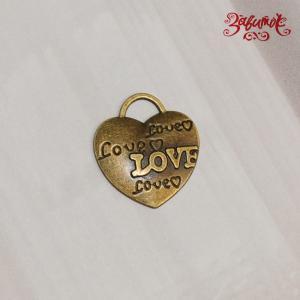 Подвеска Сердце Love, 2х2 см - Заготовки для декупажа. Интернет-магазин Завиток