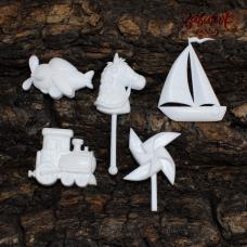 Игрушки для мальчика, набор полимерных фигурок