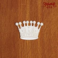 Корона, фигурка из пластика, 2,5х3,5 см