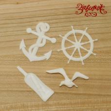 Морское приключение, фигурки из пластика, 4 шт. в наборе