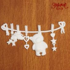 Фигурка из пластика Детские игрушки №1 Мишка, 7х3,5 см