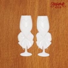 Свадебные бокалы, пара, 5 см, фигурки из пластика
