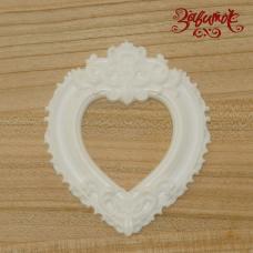 Рамка Сердце, фигурка из пластика, 7х6 см