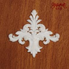 Вензель белый, 4х3,5 см, полимерная фигурка