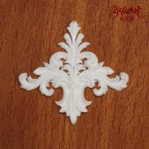 Вензель белый, 4х3,5 см, полимерная фигурка - Заготовки для декупажа. Интернет-магазин Завиток