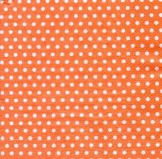 Горошек на оранжевом, 33х33 см