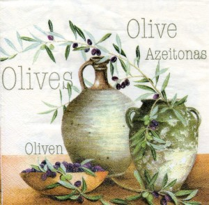Olives, 25х25 см - Заготовки для декупажа. Интернет-магазин Завиток
