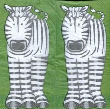 Зебры, 33х33 см, салфетка для декупажа