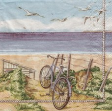 Велопрогулка к морю, 33х33 см