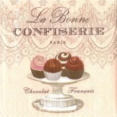 La Bonne Confiserie, 25х25 см, салфетка для декупажа