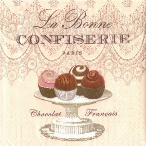La Bonne Confiserie, 25х25 см - Заготовки для декупажа. Интернет-магазин Завиток