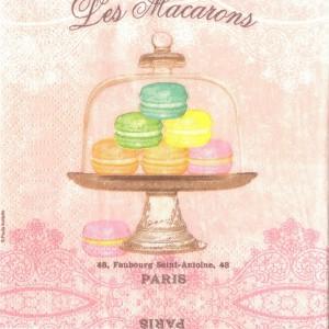 Les Macarons, 25х25 см, салфетка для декупажа - Заготовки для декупажа. Интернет-магазин Завиток