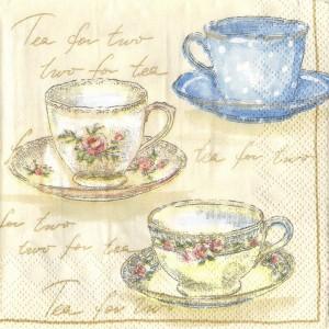 Tea for Two, 25х25 см - Заготовки для декупажа. Интернет-магазин Завиток