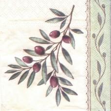 Оливковая ветвь, 25х25 см, салфетка для декупажа