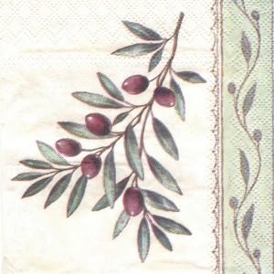 Оливковая ветвь, 25х25 см, салфетка для декупажа - Заготовки для декупажа. Интернет-магазин Завиток