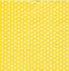 Горошек на жёлтом, 33х33 см