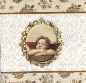 Ангелы в красивой раме, 33х33 см, салфетка для декупажа - Заготовки для декупажа. Интернет-магазин Завиток