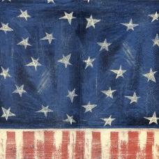 Американский узор, 33х42 см, салфетка для декупажа