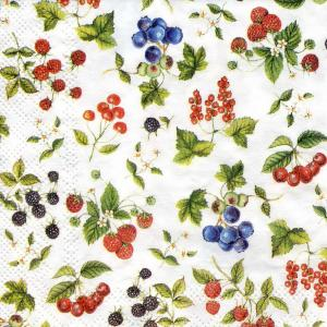 Разные ягоды, 25х25 см, салфетка для декупажа - Заготовки для декупажа. Интернет-магазин Завиток