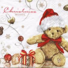 Christmas wishes, 25х25 см, новогодняя салфетка для декупажа