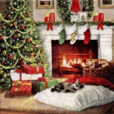 В ночь под Рождество, 33х33 см, салфетка для декупажа