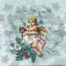 Винтажный ангел, 33х33 см, салфетка для декупажа