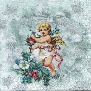 Винтажный ангел, 33х33 см, салфетка для декупажа - Заготовки для декупажа. Интернет-магазин Завиток