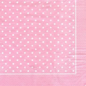 Горошек, розовый фон, 33х33 см, салфетка для декупажа - Заготовки для декупажа. Интернет-магазин Завиток