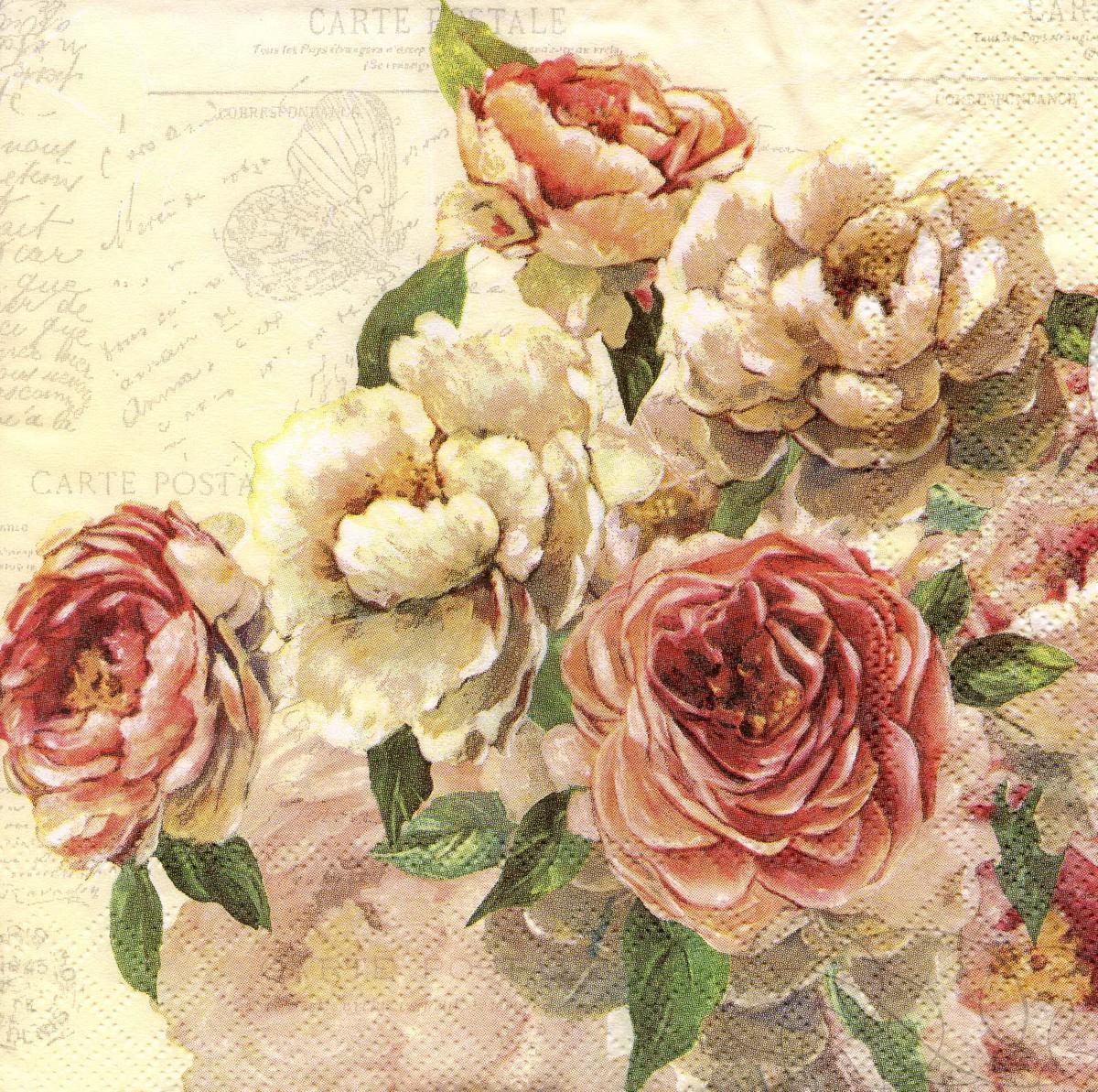Картинки розы для декупаж