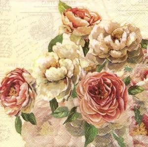 Английские розы, 33х33 см, салфетка для декупажа - Заготовки для декупажа. Интернет-магазин Завиток