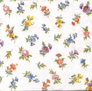Миниатюрные цветочки, 33х33 см, салфетка для декупажа - Заготовки для декупажа. Интернет-магазин Завиток