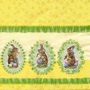 Пасхальные кролики, 33х33 см, салфетка для декупажа - Заготовки для декупажа. Интернет-магазин Завиток